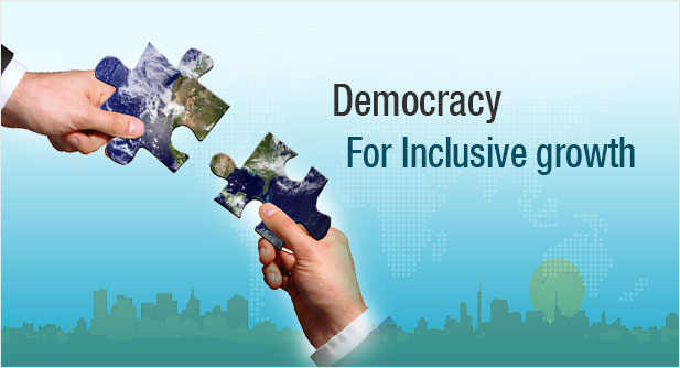 foundation of democracy A democracy is a political system, or a system of decision-making within an institution or organization or a country, in which all members have an equal share of power.