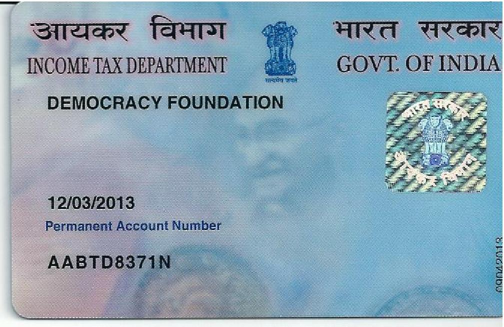PAN-Card-Democracy-Foundation-Mumbai-INDIA